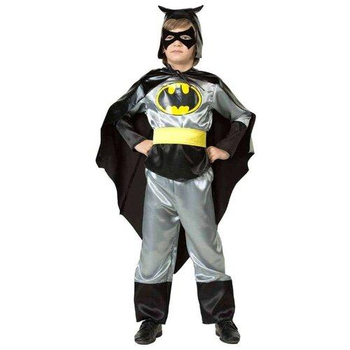 Купить Костюм Батик Бэтмен (7018), черный/серебристый, размер 158, Карнавальные костюмы