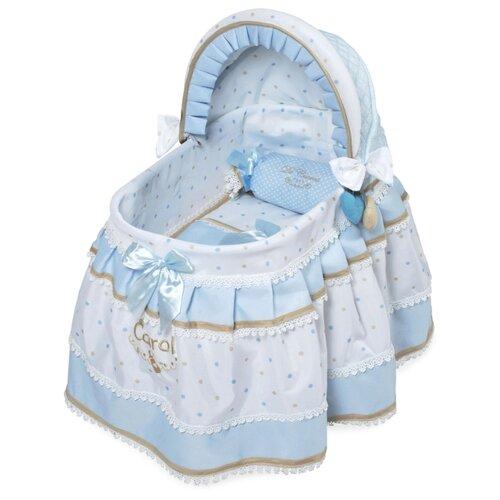 Купить DeCuevas Кроватка для куклы с козырьком Кэрол (51127) голубой, Мебель для кукол