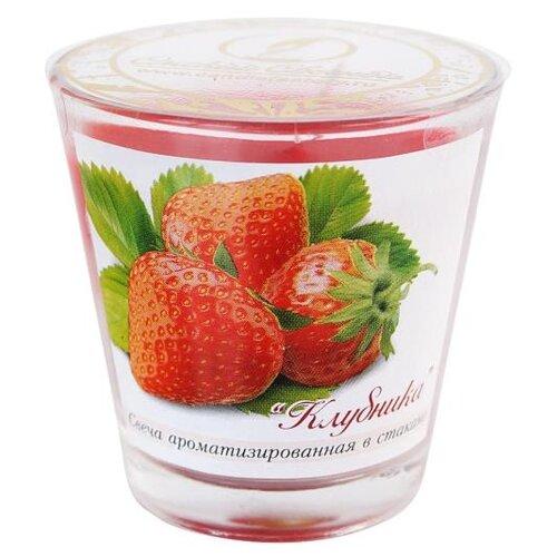 Свеча Омский Свечной Клубника в стакане (321506) красный