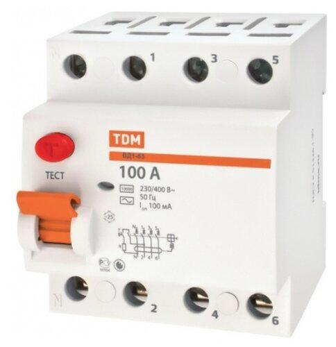 УЗО TDM ЕLECTRIC 300мА тип AC ВД1-63 4 полюса