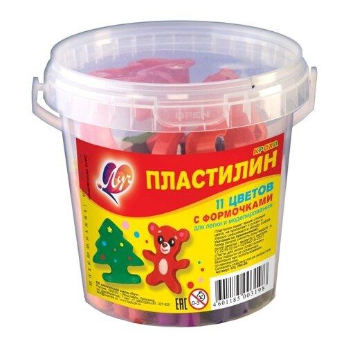 Купить Пластилин Луч Кроха 11 цветов (12С784-08), Пластилин и масса для лепки