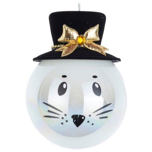 Набор шаров KARLSBACH с мордочкой и шляпкой 08927, белый/черный