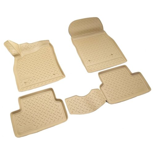 Комплект ковриков NorPlast NPL-Po-12-07 4 шт. бежевый по цене 1 890