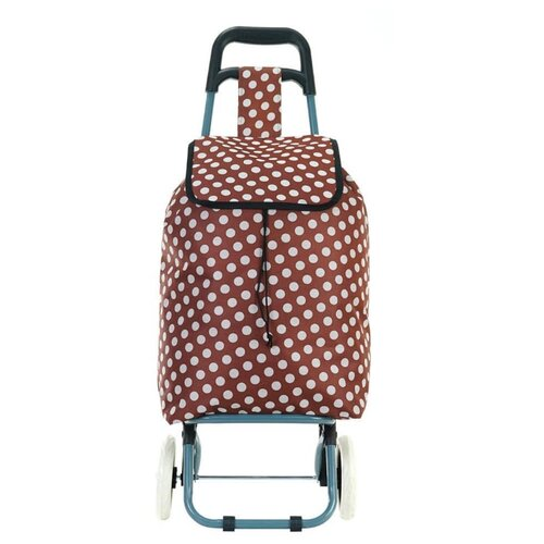 Сумка-тележка verona Spotted, 66 л, бордовый сумка тележка hayder пилот 20 л