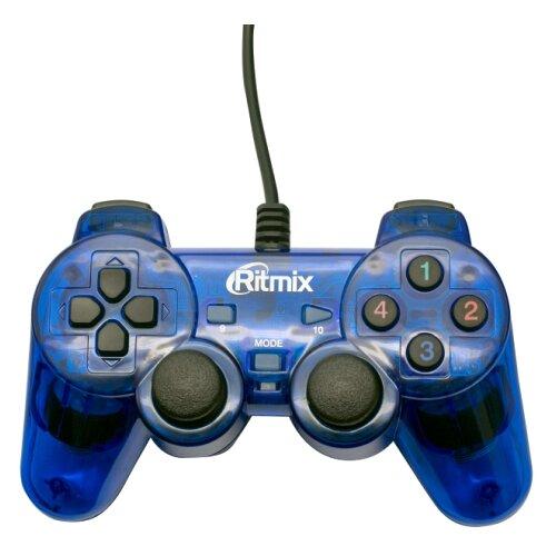 Геймпад Ritmix GP-006 синий геймпад проводной ritmix gp 035bth черный [80000202]