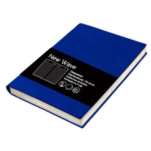 Ежедневник Listoff New Wave недатированный, искусственная кожа, А6, 136 листов, синий блокнот listoff soft touch синий а6 80 листов кзск6802585