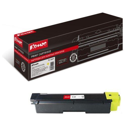Фото - Картридж лазерный Комус TK-580Y для Kyocera FS-C5150DN картридж лазерный комус tk 580k черный для kyocera fs c5150dn