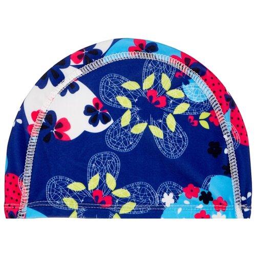 Шапочка для плавания BRADEX полиэстер синий/голубой bradex шапочка для плавания bradex полиамид синий