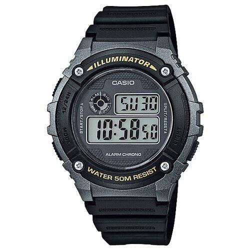 цена Наручные часы CASIO W-216H-1B онлайн в 2017 году