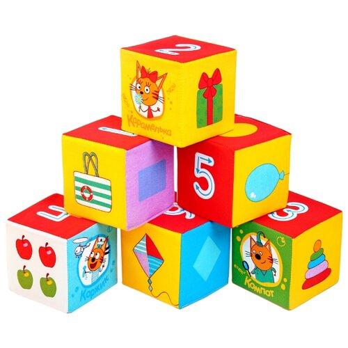 Купить Кубики Мякиши Три Кота Математика, Детские кубики