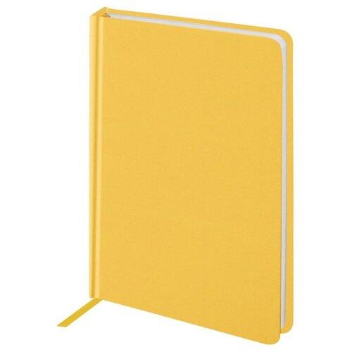 Купить Ежедневник BRAUBERG Select недатированный, А6, 160 листов, желтый, Ежедневники, записные книжки