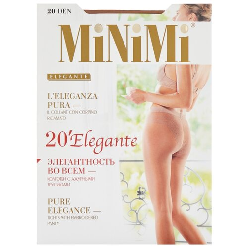 Колготки MiNiMi Elegante 20 den, размер 3-M, daino (бежевый) колготки minimi elegante 40 den размер 4 l daino бежевый