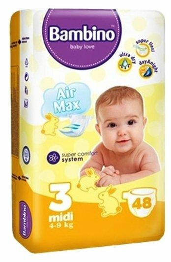 Bambino подгузники Air Max (4-9 кг) 48 шт.