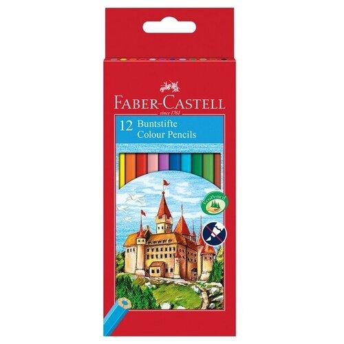 Купить Faber-Castell Карандаши цветные Замок 12 цветов (120112), Цветные карандаши