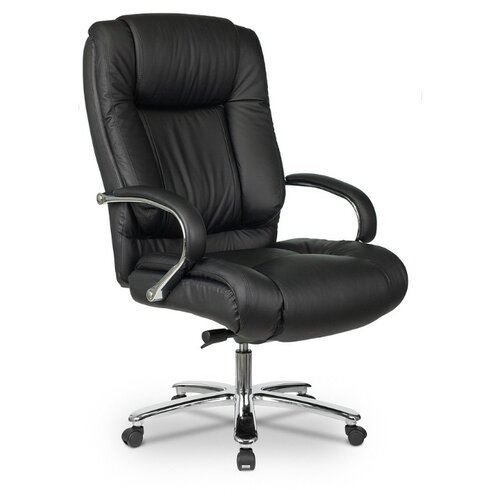 Компьютерное кресло Бюрократ T-9925SL для руководителя, обивка: натуральная кожа, цвет: черный компьютерное кресло бюрократ t 9927walnut low для руководителя обивка натуральная кожа цвет черный