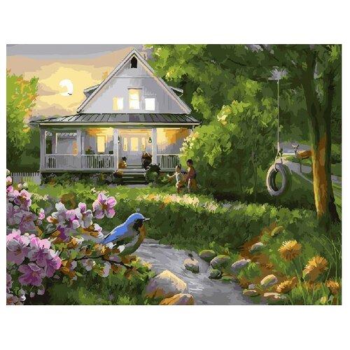 ВанГогВоМне Картина по номерам Мой дом, 40х50 см (ZX 22263) картина по номерам вангогвомне голубая ваза