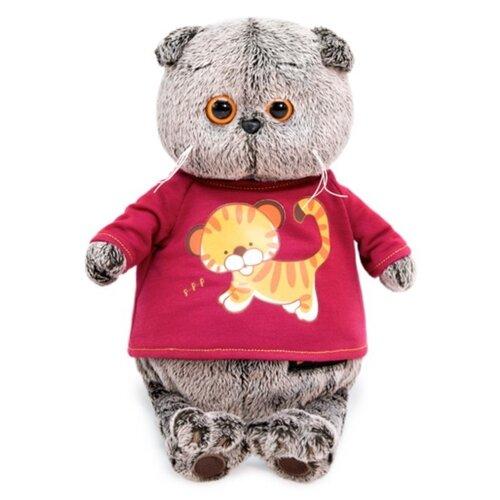 Купить Мягкая игрушка Basik&Co Кот Басик в футболке с принтом Тигренок 22 см, Мягкие игрушки