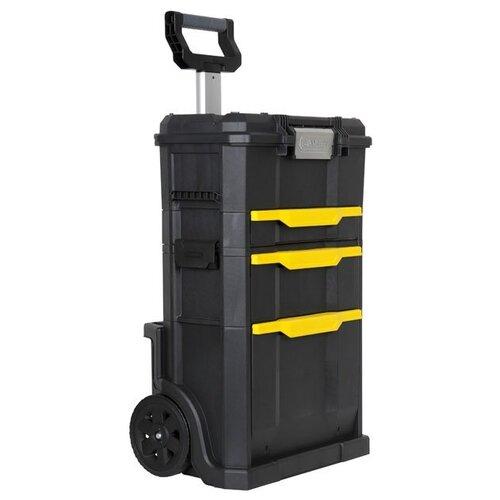 Ящик-тележка STANLEY STST1-70344 78x49x35 см черный/желтый ящик с органайзером stanley stst1 70317 55 6x32x24 9 см 19 черный