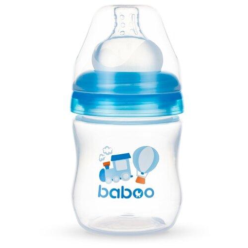 Baboo Бутылочка с широким горлом и силиконовой соской 130 мл. с рождения, transport baboo набор baboo transport вилка и ложка 4 мес голубой