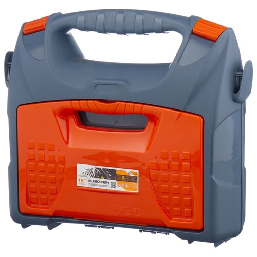 Ящик с органайзером BLOCKER Elekoffer BR3716 41.5x36.1x14.1 см 16'' серый/свинцовый/оранжевый ящик с органайзером blocker master br6006 61x32x30 см 24 серо свинцовый оранжевый