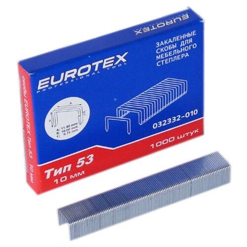 Скобы Eurotex 032332-010 тип 53 для степлера, 10 мм eurotex 080403