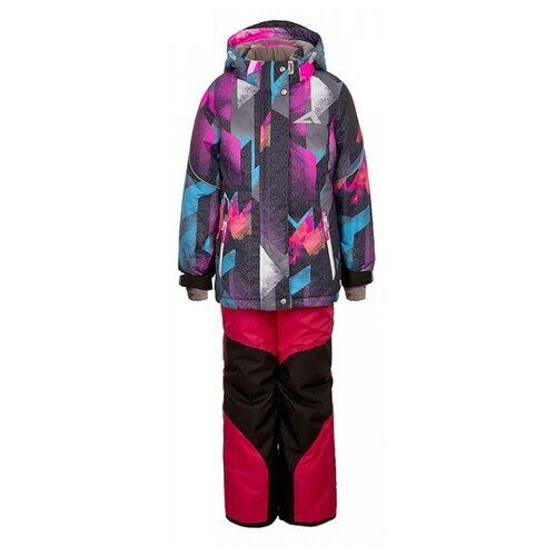 Купить Комплект с полукомбинезоном Oldos размер 92, розовый, Комплекты верхней одежды