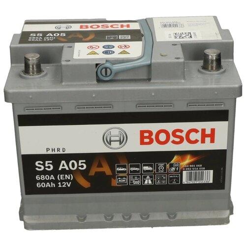 Автомобильный аккумулятор Bosch S5 A05 AGM (0 092 S5A 050) цена 2017