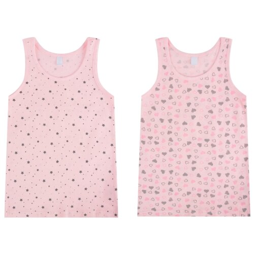 Купить Майка Leader Kids 2 шт., размер 98-104, розовый, Белье и купальники