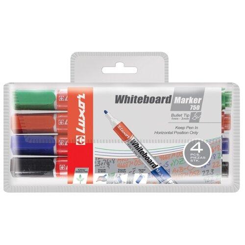 Купить Luxor Набор маркеров для белой доски 750, 4 шт. (3380/4 WT), Маркеры