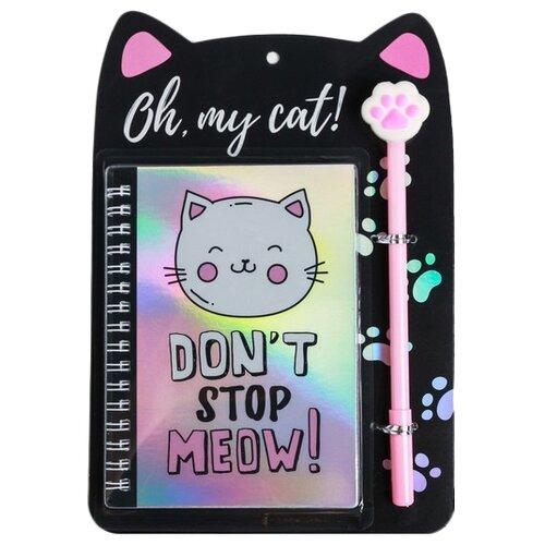 Купить Ежедневник ArtFox Oh my cat! 4564192 недатированный, А6, 40 листов, разноцветный, Ежедневники, записные книжки