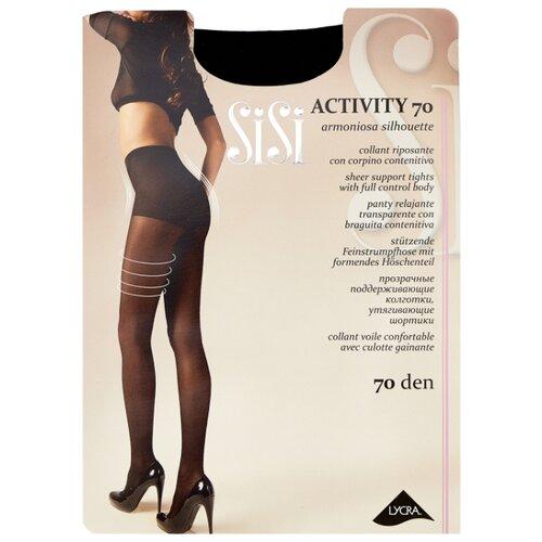 Колготки Sisi Activity 70 den, размер 5-MAXI XL, nero (черный) колготки sisi activity 70 den