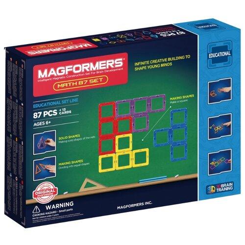 цена Магнитный конструктор Magformers Educational 711002 (63109)-87 Math Set онлайн в 2017 году