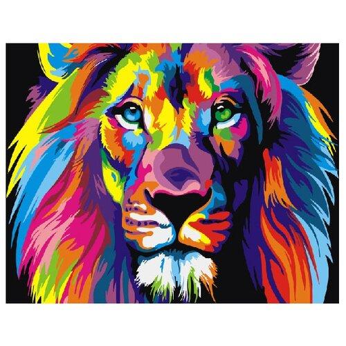 Купить ВанГогВоМне Картина по номерам Радужный лев , 40х50 см (ZX 20230), Картины по номерам и контурам