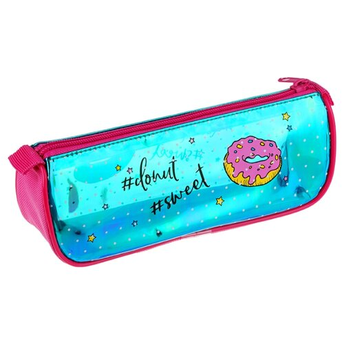 Купить Berlingo Пенал-косметичка Sweet donut (PM07202) голубой/розовый, Пеналы