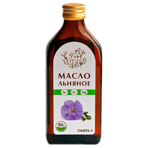 Компас Здоровья Масло льняное стеклянная бутылка 0.25 л.