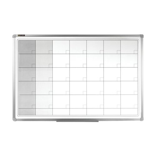 Доска магнитно-маркерная BRAUBERG 236863 (60х90 см) белый/серый