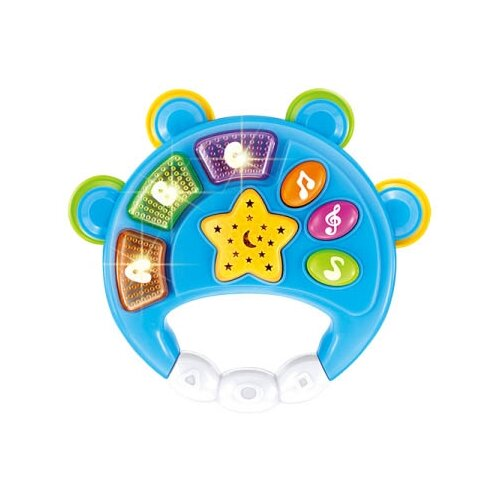 Купить Развивающая игрушка China Bright Pacific Бубен синий, Развивающие игрушки