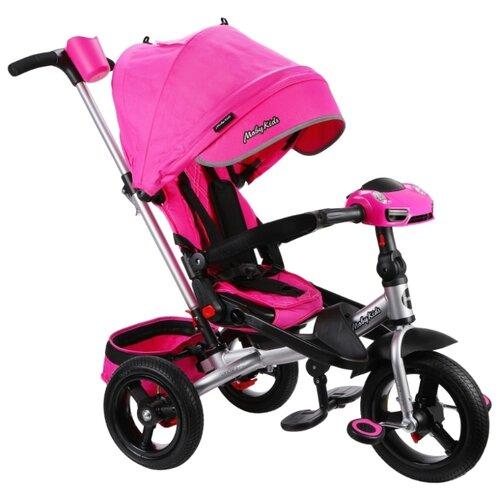 Купить Трехколесный велосипед Moby Kids New Leader 360° 12x10 AIR Car розовый, Трехколесные велосипеды