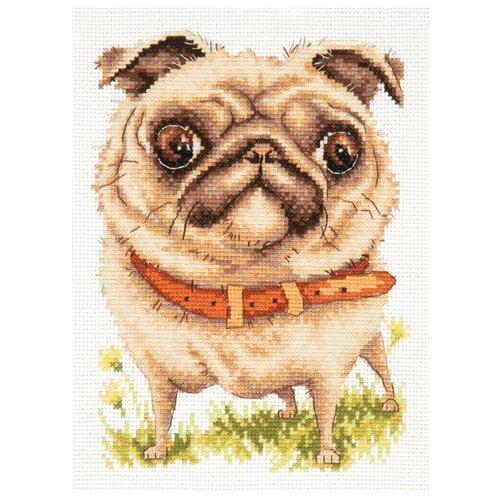 Купить Чудесная Игла Набор для вышивания Мопсик 16 х 20 см (16-17), Наборы для вышивания