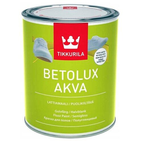 Фото - Краска акриловая Tikkurila Betolux Akva полуглянцевая бесцветный 0.9 л краска акриловая tikkurila luja 40 полуглянцевая прозрачный 9 л