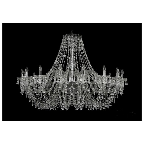 Люстра Bohemia Ivele Crystal 1410/16/460/Ni/V0300, E14, 640 Вт bohemia ivele crystal 1410 6 160 ni v0300 sh2