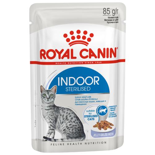 Корм для стерилизованных кошек Royal Canin для живущих в помещении 85 г (кусочки в желе)