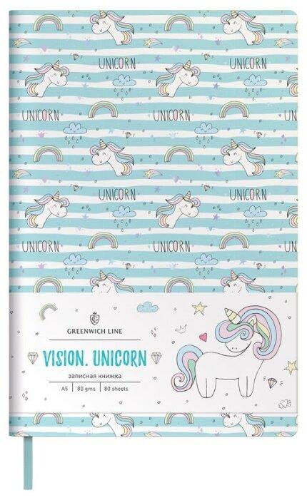 Записная книжка Greenwich Line Vision. Unicorn, искусственная кожа, А5, 136 листов