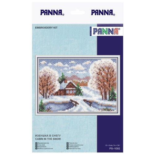 Купить PANNA Набор для вышивания Избушка в снегу 13 х 9 см (PS-1092), Наборы для вышивания