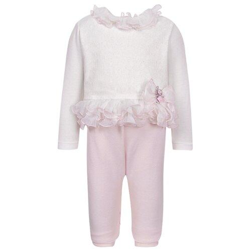 комбинезон детский фреш стайл цвет кремовый 37 523 размер 62 от 0 до 3 месяцев Комбинезон Aletta размер 62, кремовый/розовый
