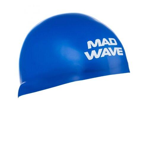 Шапочка для плавания MAD WAVE D-CAP синий M втулка задняя m wave 36 отверстий с гайками для трещетки 6 776