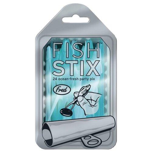 Fred Шпажки для канапе Fish stix одноразовые пластиковые (24 шт.) голубой