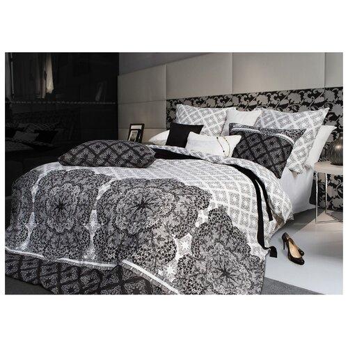Постельное белье евростандарт Sova & Javoronok Кружево сновидений 50х70 см, сатин черный/белый