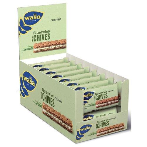 Хлебцы ржаные Wasa Sandwich Cheese & Chives 37 г 24 шт