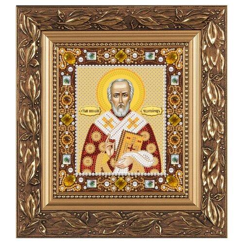 Купить NOVA SLOBODА Набор для вышивания бисером иконы Св. Николай Чудотворец 13 х 15 см (Д6003), Наборы для вышивания